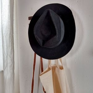 Black Wide Brim Hat